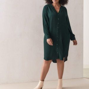 Additionelle | Straight Shirt Dress - Pine